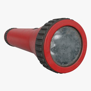 old flashlight 3D