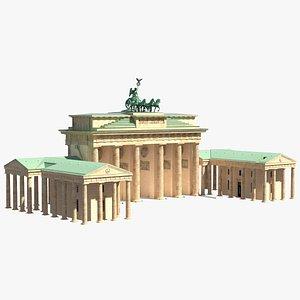 3D brandenburg gate