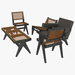 3D model black mahogany