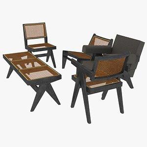 3D model black mahogany