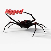 Rigged Spider with 8K PBR Textures