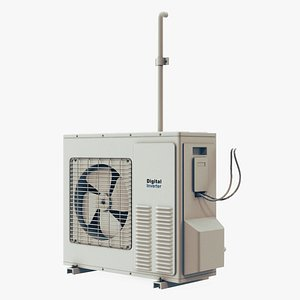 3D air conditioning unit model