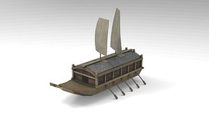 korean turtle ship - 3D model