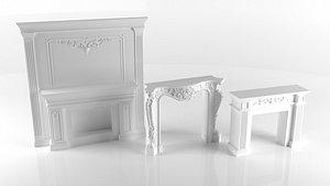 fireplace place 3D model