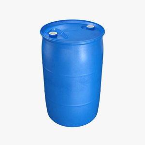 3D barrel plastic fittings model