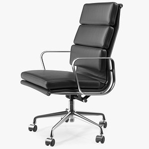 3D model Executive Chair Black Leather