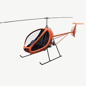 3D - real time helicopter model