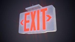 3D model exit sign