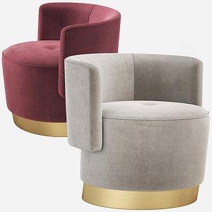 3D baxter anais armchair model