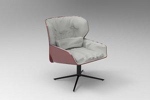 3D Nuez Lounge Armchair model