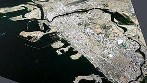 3D Cityscape Dubai United Arab Emirates model