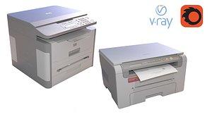 Two Printers 3D model
