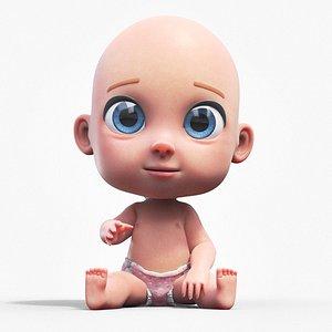 3D Cartoon Baby - Rigged