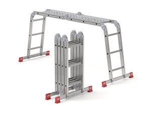 Multifunction Aluminium Ladder 3D model