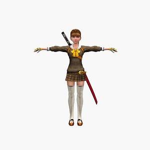 Girl ninja V2 3D