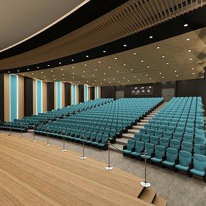 3D hall auditorium