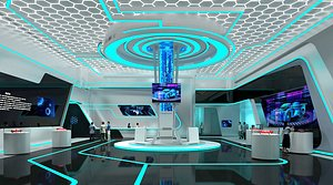 Exhibition Hall Science and technology Exhibition Hall Digital Exhibition Hall multimedia Exhibition 3D model