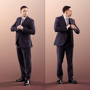 man business standing 3D model