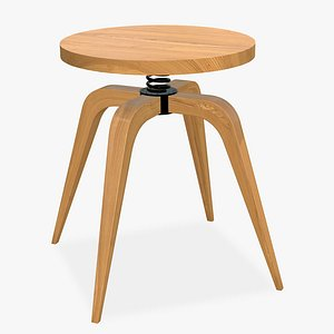 3D Spinning Stool Chair model