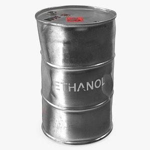 old ethanol metal barrel 3D