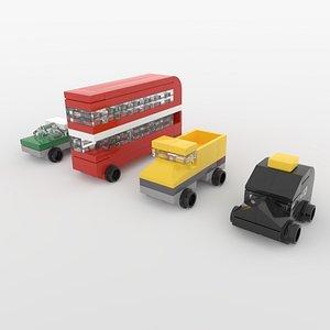 mini vehicles 3D model