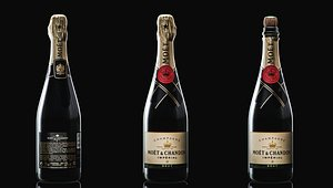 3D champagne bottle chandon