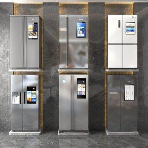3D Double-Door Refrigerator model