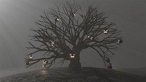 3D pumpkins tree model