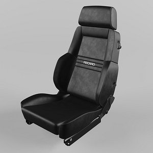 3D RECARO Expert Comfort Black Seat