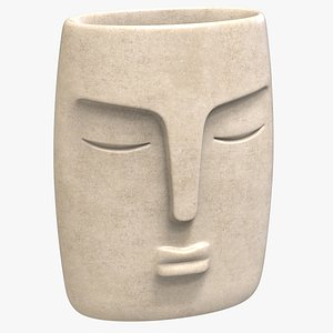 3D Face Vase Decoration model