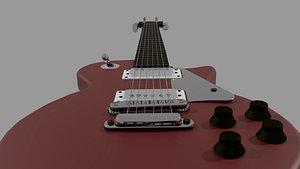 3D eletric guitar les paul model