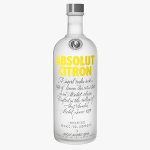 3D model citron lemon flavoured vodka