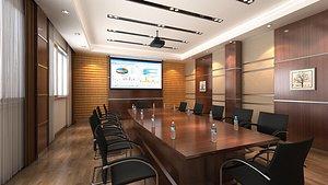 3D Conference Room 02 model