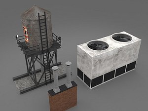 3D rooftop roof