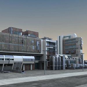 3D city building structure model