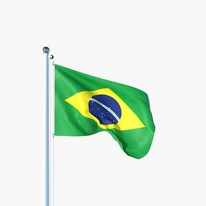 3D Animated Flag of Brazil