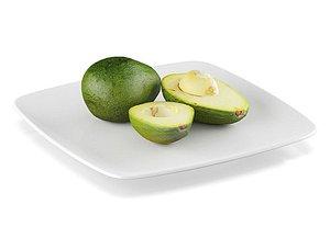 3D model Realistic avocado