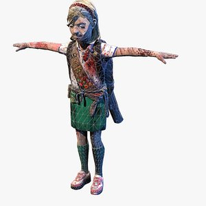 3D zombie girl scout