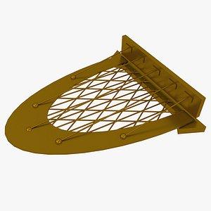 3D model porch roof