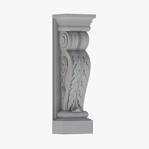 3D model Scroll Corbel 49 - 3D Printable