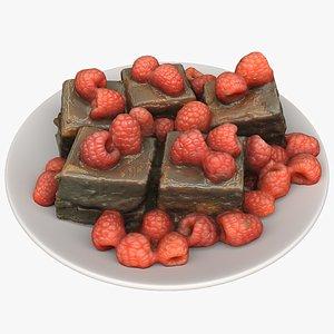 3D chocolate cakes food