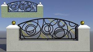 3D architecture fence model