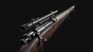springfield sniper scope 3D model
