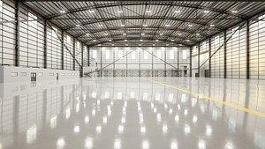 3D Airplane Hangar Interior 11 model