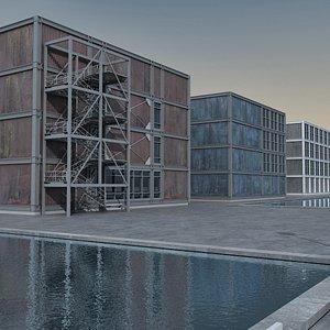 Modern Building 124 Scene 3D model