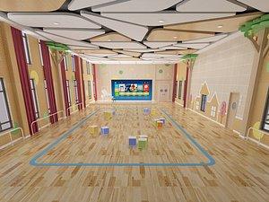 3D Kindergarten  classroom model