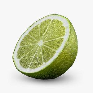 Lime half 3D