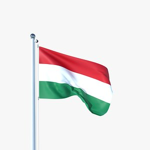Animated Flag of Hungary 3D model