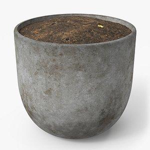 pot concrete 3D model