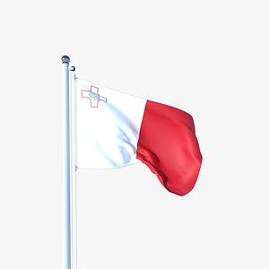 Animated Flag of Malta 3D